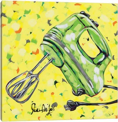 Kitchen Sketch Mixer Canvas Art Print
