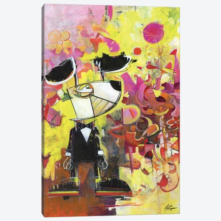 Everything Starts With A Dot Canvas Print #JAV10} by Jack Avetisyan Canvas Art