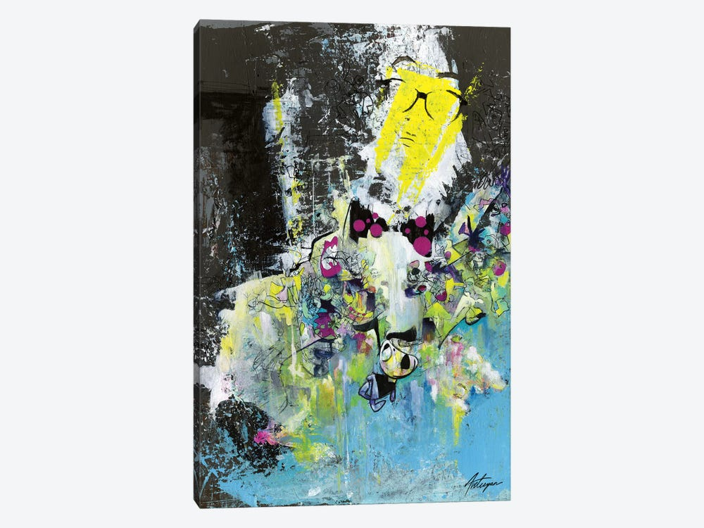 The Professor With The Bow Tie by Jack Avetisyan 1-piece Canvas Print