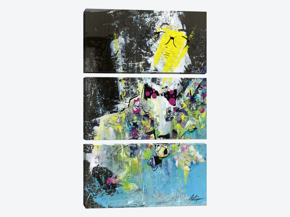 The Professor With The Bow Tie by Jack Avetisyan 3-piece Canvas Art Print
