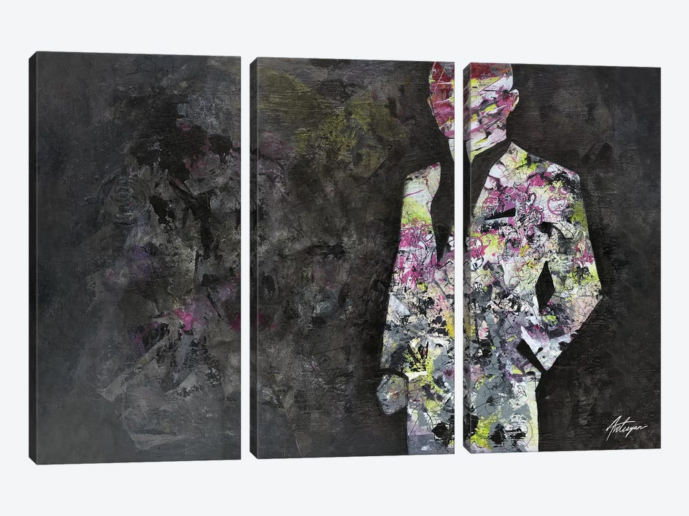 The Unknown Gentleman by Jack Avetisyan 3-piece Canvas Wall Art