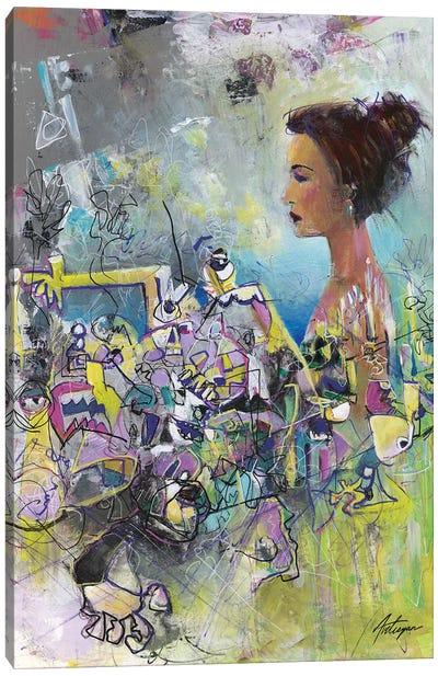 Calm amongst Chaos Canvas Art Print