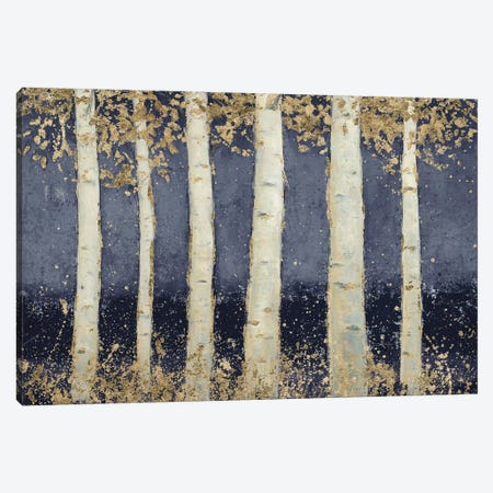 Magnificent Birch Grove Indigo Canvas Print #JAW100} by James Wiens Canvas Artwork