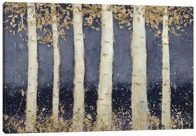 Magnificent Birch Grove Indigo Canvas Art Print