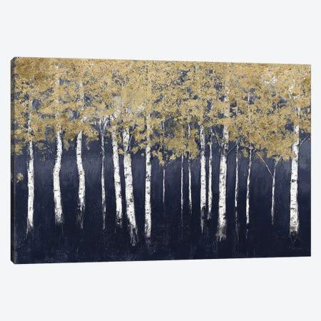 Shimmering Forest Indigo 3-Piece Canvas #JAW101} by James Wiens Canvas Artwork