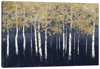 Shimmering Forest Indigo Canvas Art Print
