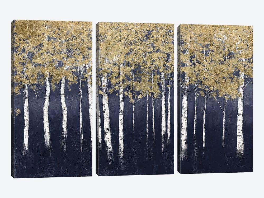 Shimmering Forest Indigo by James Wiens 3-piece Canvas Artwork