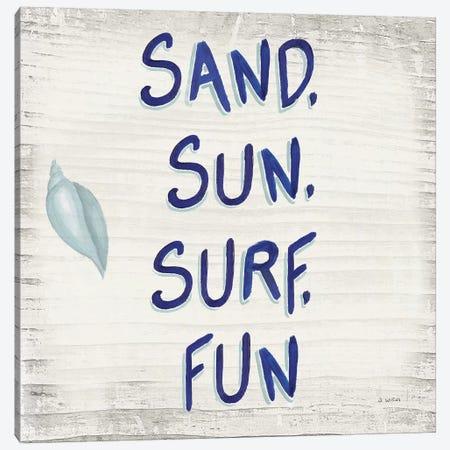 Beach Time VIII Sq Canvas Print #JAW107} by James Wiens Canvas Art Print
