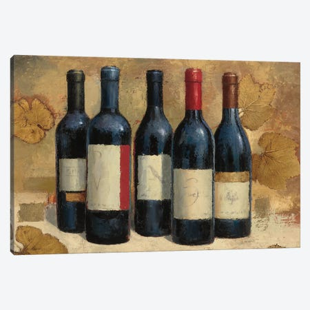 Napa Reserve Wine Crop Canvas Print #JAW109} by James Wiens Canvas Artwork