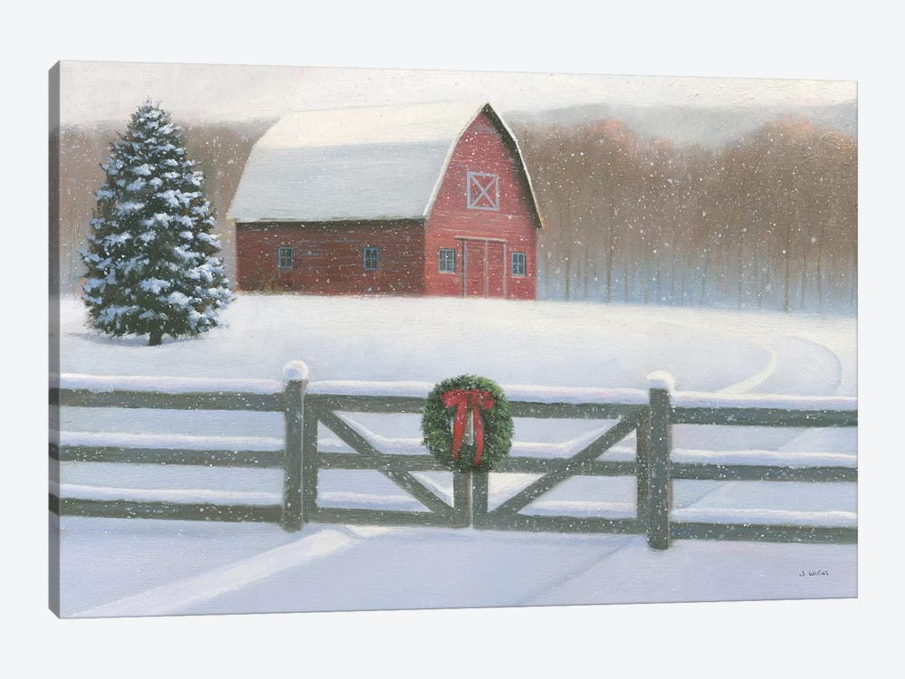 Farmhouse Christmas by James Wiens 1-piece Canvas Artwork