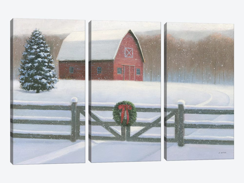 Farmhouse Christmas by James Wiens 3-piece Canvas Wall Art