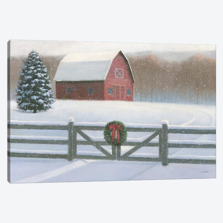 Farmhouse Christmas Canvas Print #JAW10} by James Wiens Canvas Print