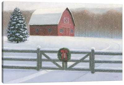 Farmhouse Christmas Canvas Art Print