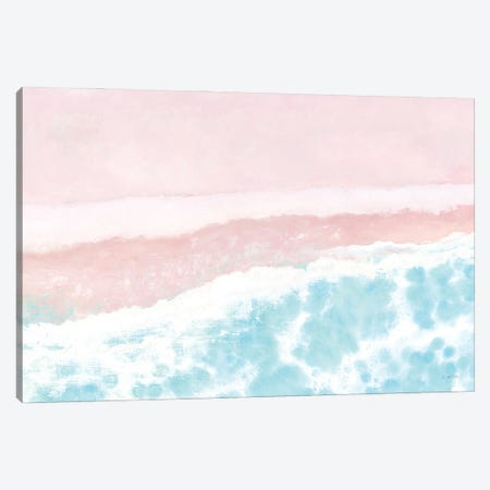 Sky Seaview I No Umbrellas Pink Canvas Print #JAW121} by James Wiens Canvas Artwork