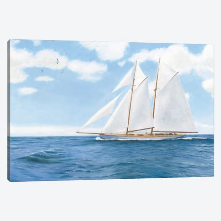 Majestic Sailboat White Sails Canvas Print #JAW129} by James Wiens Canvas Art