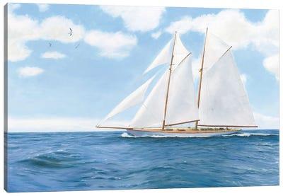Majestic Sailboat White Sails Canvas Art Print