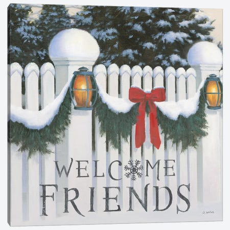 Welcome Friends Canvas Print #JAW16} by James Wiens Canvas Wall Art