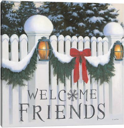 Welcome Friends Canvas Art Print