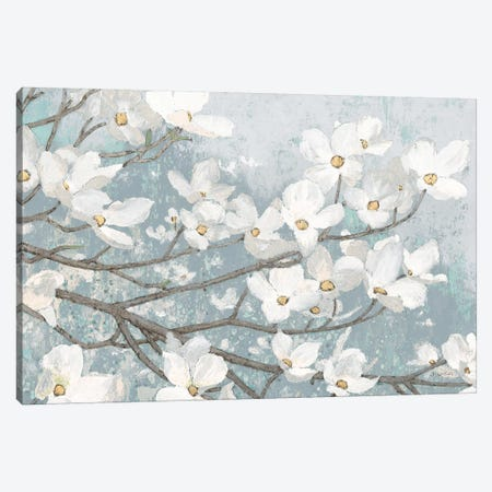 Dogwood Blossoms II In Blue Gray Crop Canvas Print #JAW1} by James Wiens Canvas Artwork