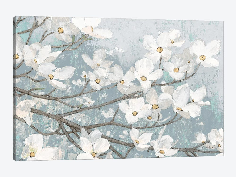 Dogwood Blossoms II In Blue Gray Crop by James Wiens 1-piece Canvas Print