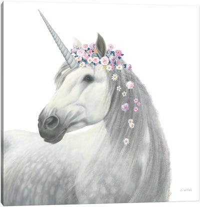 Spirit Unicorn II Sq Enchanted Canvas Art Print