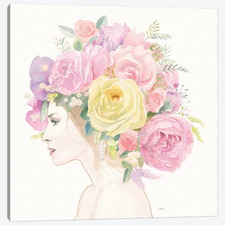 Flowers in her Hair Canvas Print #JAW31} by James Wiens Canvas Print