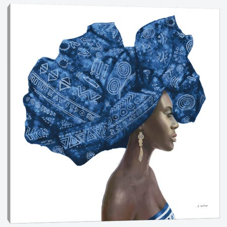 Pure Style II Blue Canvas Print #JAW32} by James Wiens Canvas Print