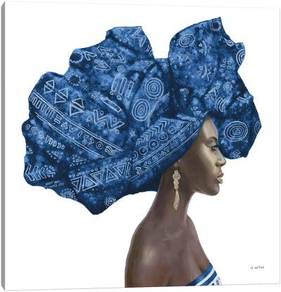 Pure Style II Blue Canvas Art Print