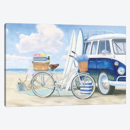Beach Time I Canvas Print #JAW38} by James Wiens Canvas Print