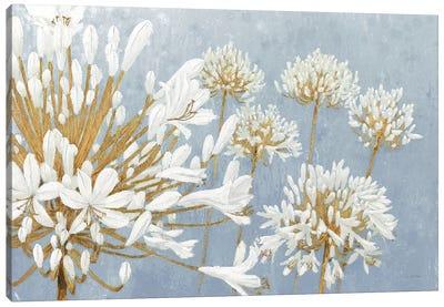 Golden Spring Blue Gray Canvas Art Print