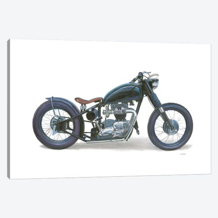Lets Roll I White Canvas Print #JAW48} by James Wiens Canvas Artwork
