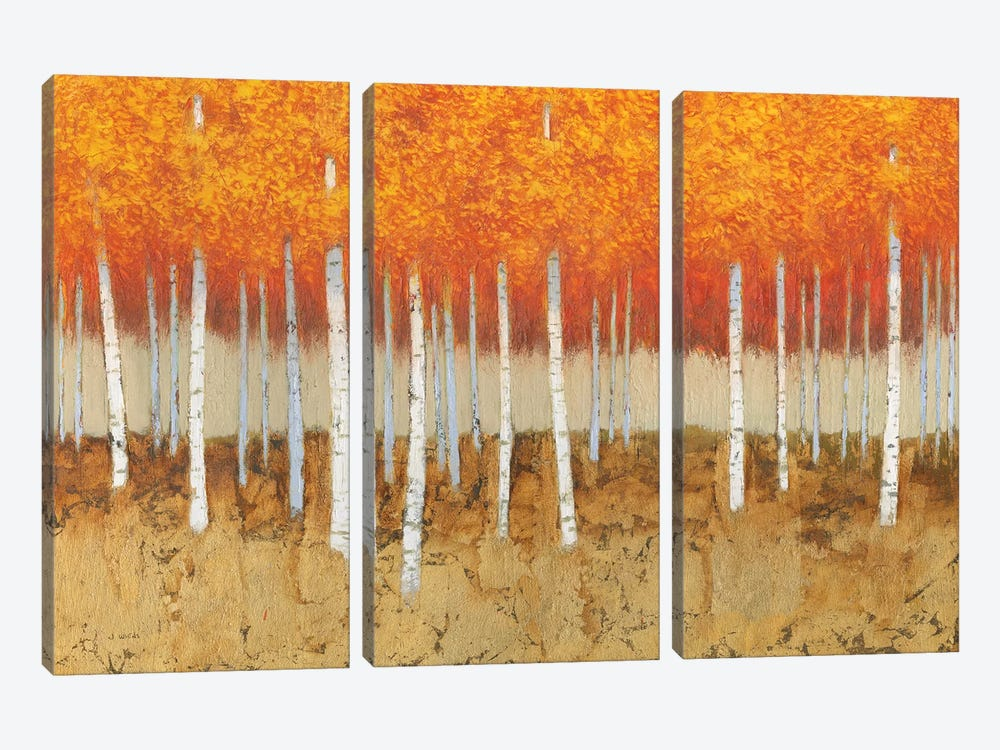 Autumn Birches by James Wiens 3-piece Canvas Art