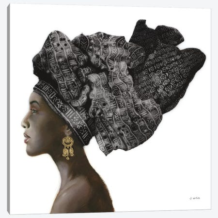 Pure Style Black Canvas Print #JAW57} by James Wiens Canvas Artwork