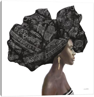 Pure Style II Black Canvas Art Print