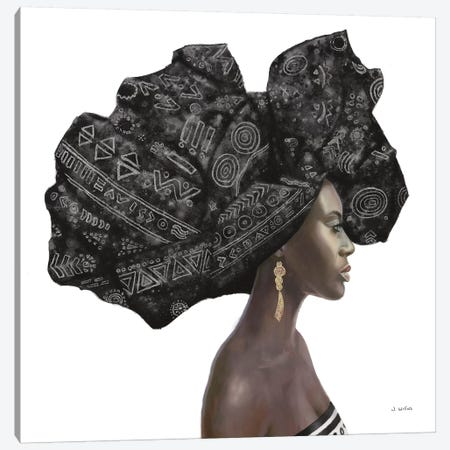 Pure Style II Black Canvas Print #JAW58} by James Wiens Canvas Art Print