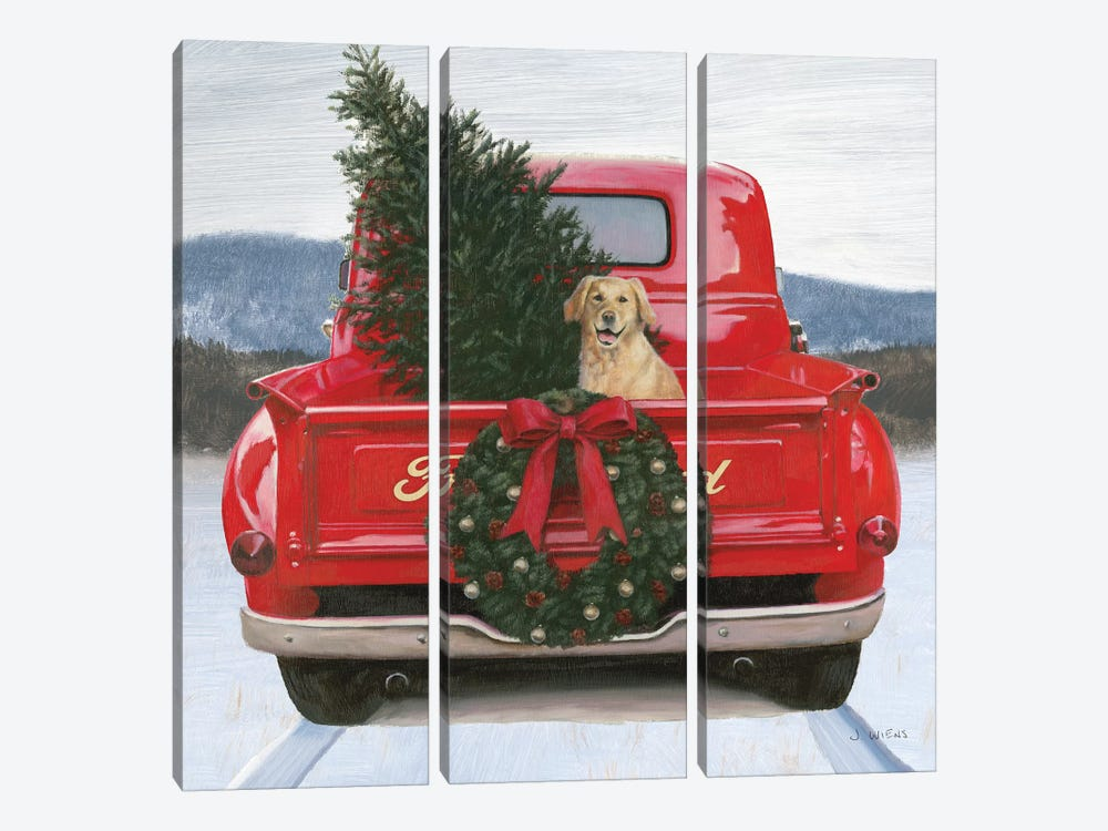 Christmas in the Heartland IV Ford by James Wiens 3-piece Canvas Art Print