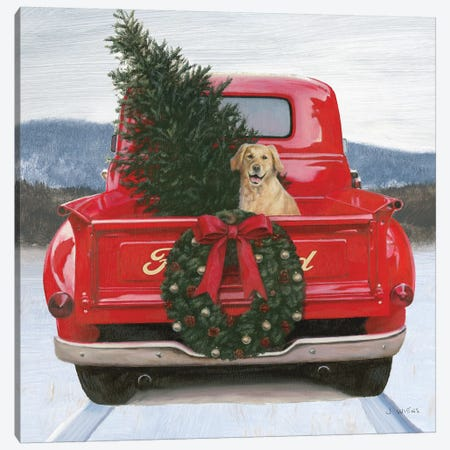 Christmas in the Heartland IV Ford Canvas Print #JAW68} by James Wiens Canvas Artwork