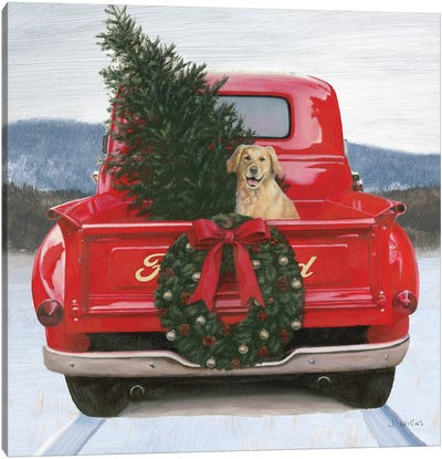 Christmas in the Heartland IV Ford Canvas Art Print