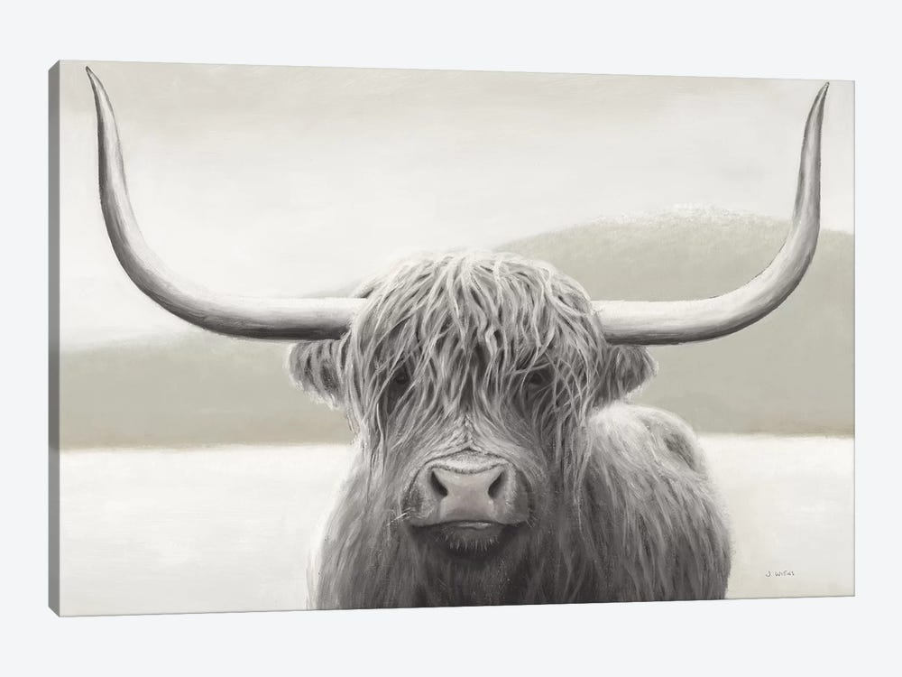 Highland Cow Neutral by James Wiens 1-piece Art Print