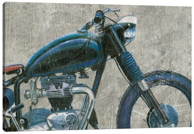 Lets Roll I Grunge Crop Canvas Art Print