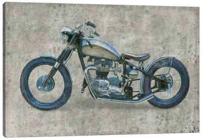 Lets Roll II Grunge Canvas Art Print