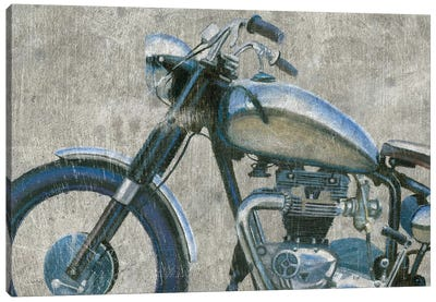 Lets Roll II Grunge Crop Canvas Art Print