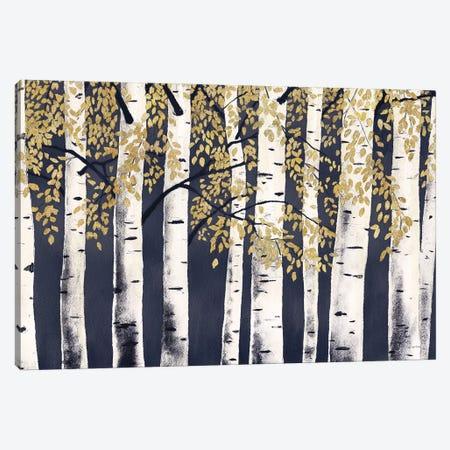 Fresh Forest Indigo Gold 3-Piece Canvas #JAW96} by James Wiens Canvas Artwork