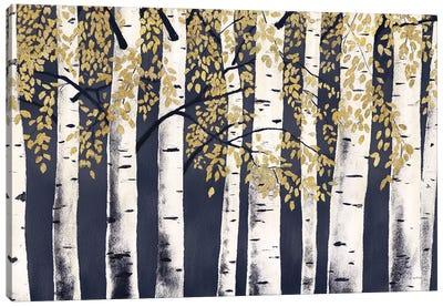 Fresh Forest Indigo Gold Canvas Art Print