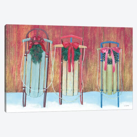 Family Sleds Canvas Print #JAW9} by James Wiens Canvas Wall Art