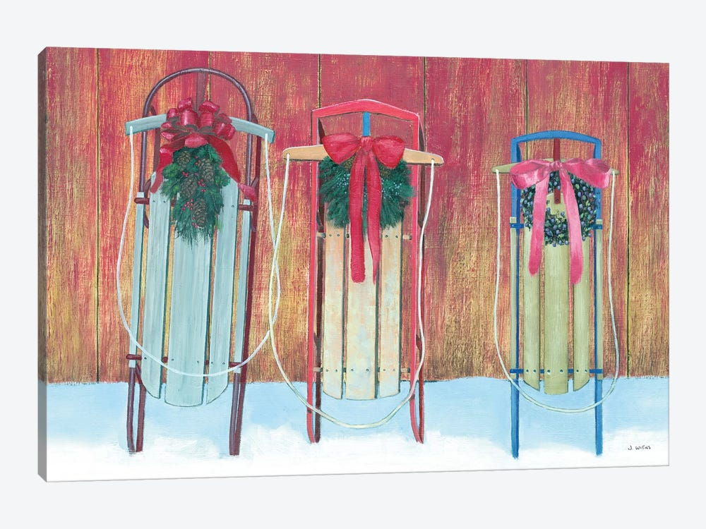Family Sleds by James Wiens 1-piece Canvas Art Print
