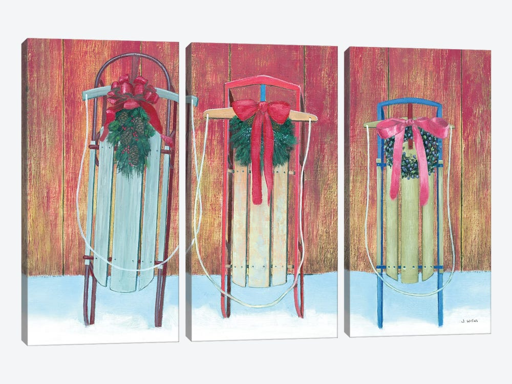 Family Sleds by James Wiens 3-piece Art Print