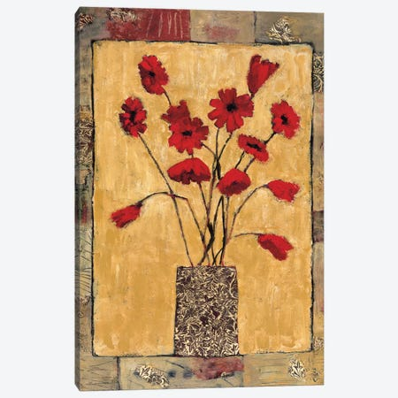 Red Flowers 3-Piece Canvas #JBA16} by Judi Bagnato Canvas Art