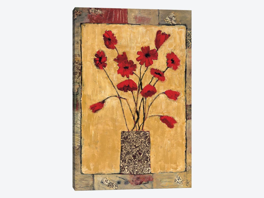 Red Flowers by Judi Bagnato 1-piece Canvas Print
