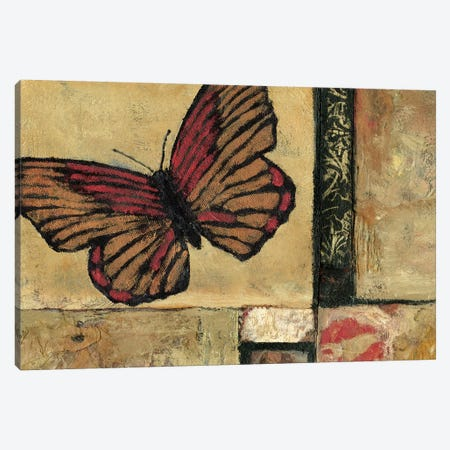 Butterfly In Red Canvas Print #JBA1} by Judi Bagnato Canvas Artwork